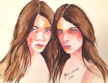 """Watercolor in Fabriano Acquarello, 100% cotton, 300 g/m2 (140 lbs), 23 x 30,5 cm (9"""" x 12"""")"""
