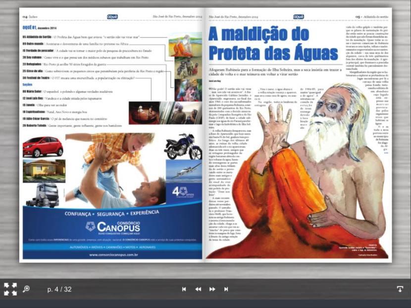 Newspaper www.jornaloque.com.br: with myillustration