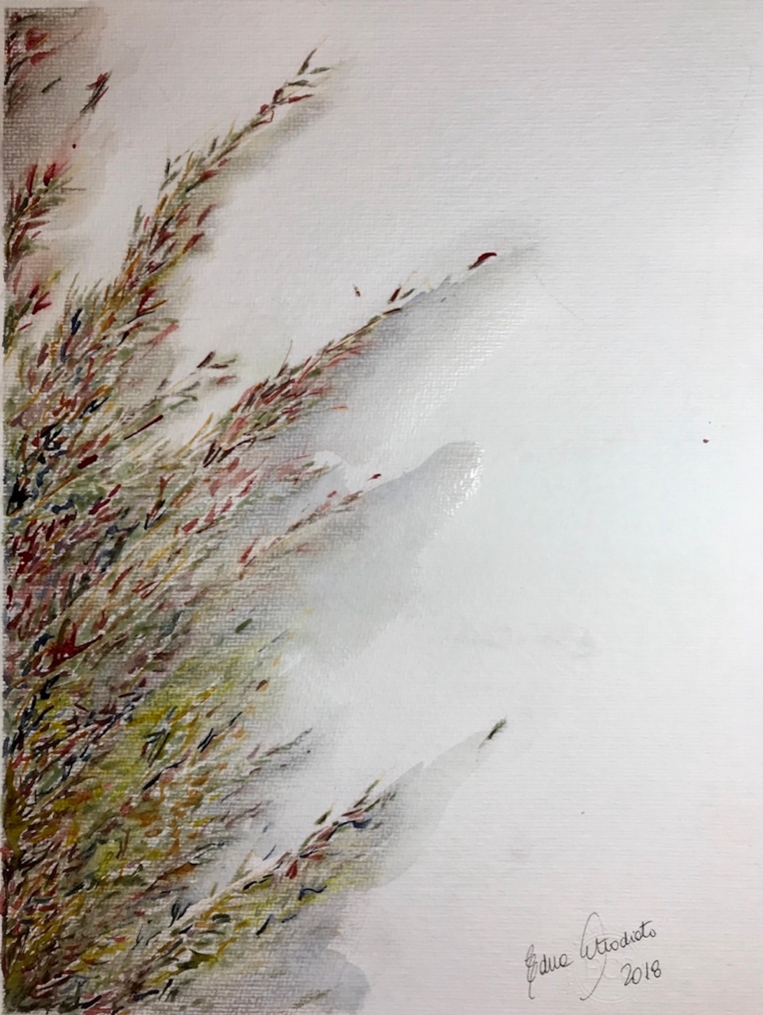 pampas grass 21_watercolor in hahnemuhle 36x48cm 425gsm_Edna Carla Stradioto 2018_USD 400