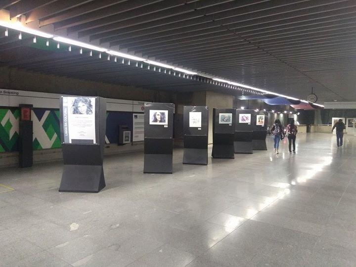 Exposição MOMENTOS DE GRATIDÃO na Estação República, Linha da Cultura, Metrô de SP, até04/06/2018