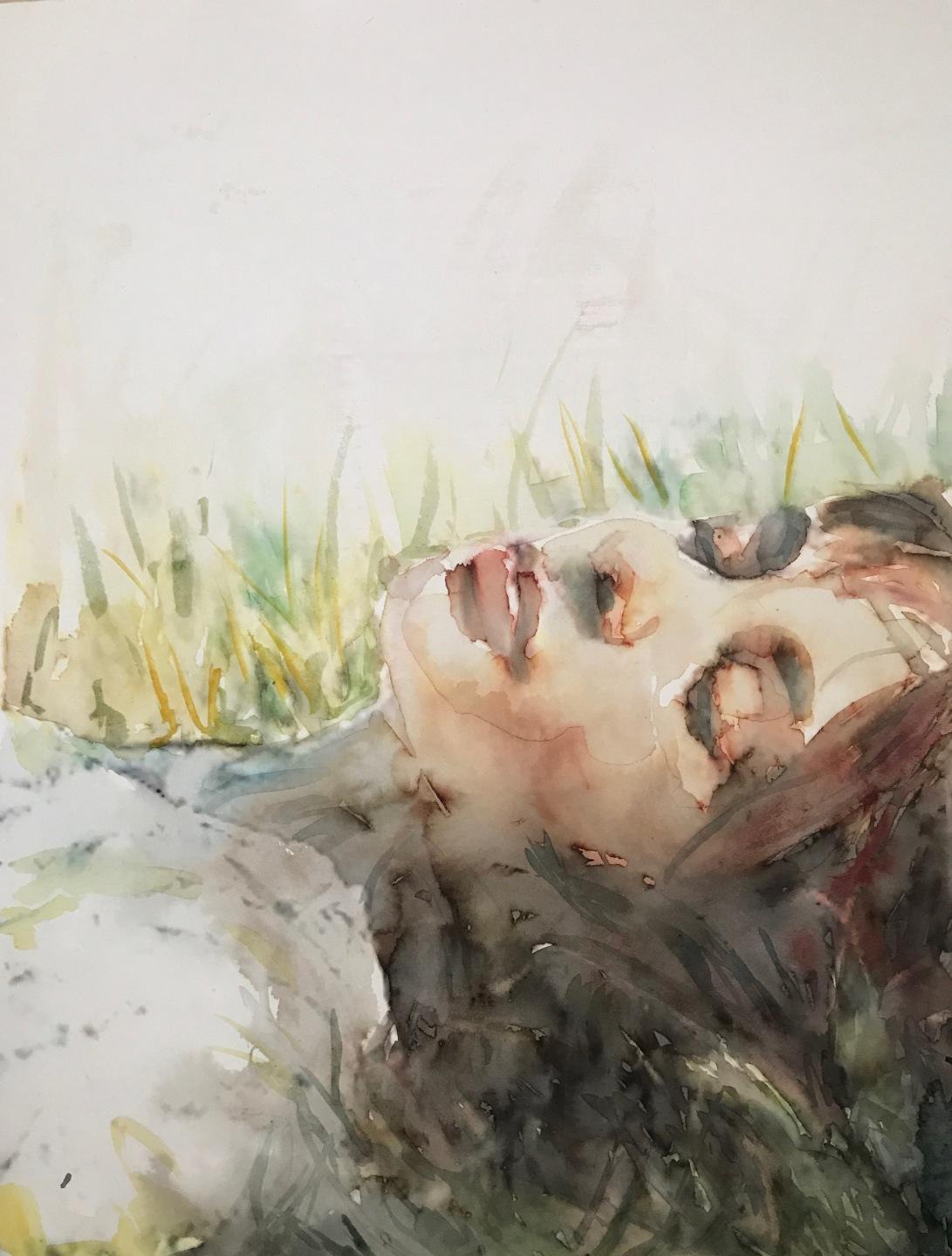 doze_Edna Carla Stradioto_watercolor in Hahnemuhle Anniversary Edition 425 gsm_36x48cm
