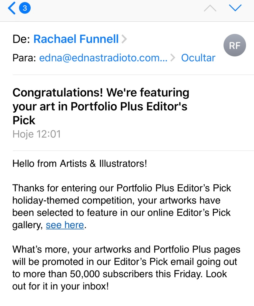 Artwork selected: Portfolio Plus Editor's Pick holiday-themed competition